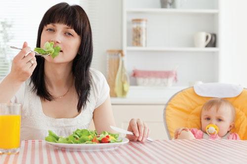 Giảm cân sau sinh - Chế độ ăn uống